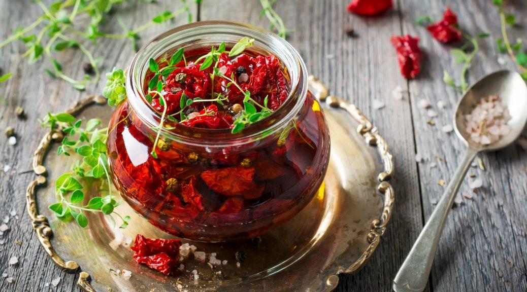bocal tomates séchées huile d'olive